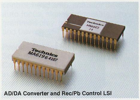 Фирменные высоко-интегрированные микросхемы Technics MA6196 (ЦАП/АЦП) и MN6603 (контроль-коррекция сигнала, функционал защиты от перезаписи)