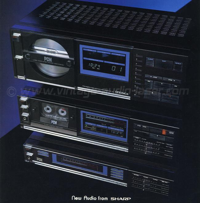 Тот самый каталог с не-выпущенными Sharp RP-X4 (ставший позже DX-3), PCM компакт-кассетником! RT-X5 и приставкой RX-2